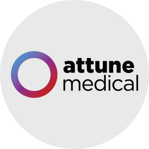Attune Medical logo on grey background