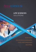 Accuscience Life Sciences brochure cover