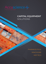 Accuscience Capital Equipment brochure cover
